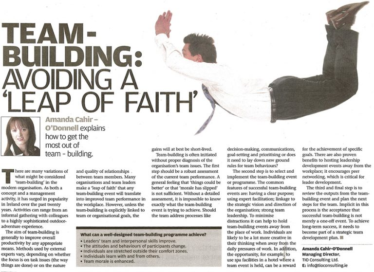 Amanda Cahir-O'Donnell - Team-Building Avoiding a Leap of Faith (09/07/08)